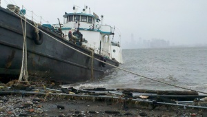 Hurricane Sandy tanker